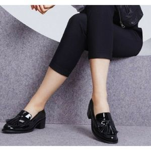 Dune London Goosie Tassel Patent Leather Loafers